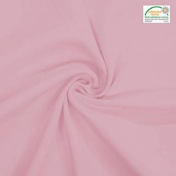 Burlington infroissable grande largeur 280cm rose dragée Oeko-tex