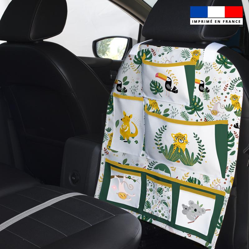 Patron pour organisateur de voiture motif animaux de la jungle + Coupon pochette Offert