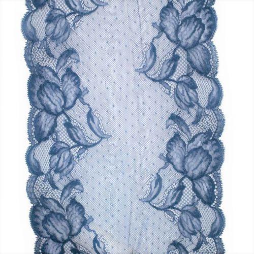 Dentelle de Calais bleue 20 cm