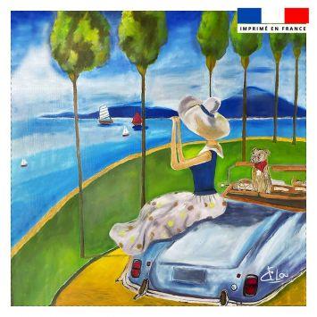 Coupon 45x45 cm motif bord de mer - Création Lilou L