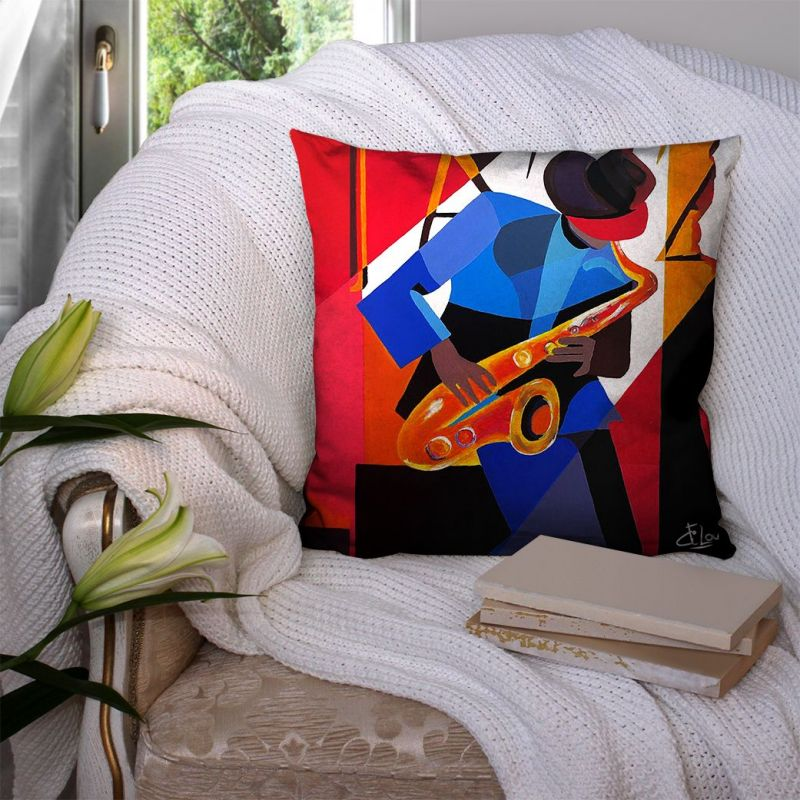 Coupon 45x45 cm motif saxophone - Création Lilou L