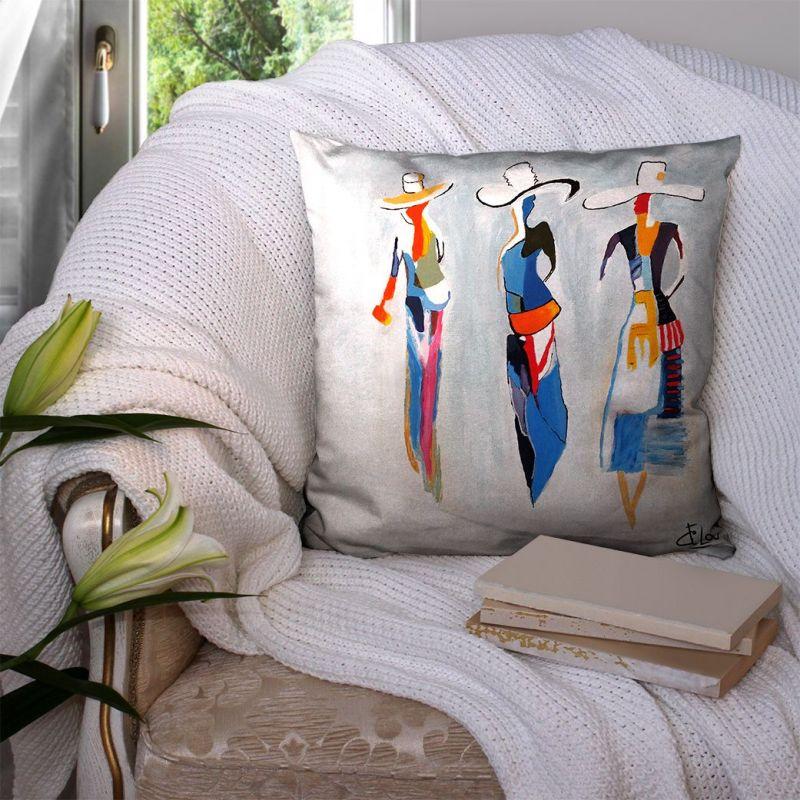 Coupon 45x45 cm motif trio de femmes - Création Lilou L