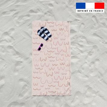 Coupon éponge pour serviette de plage simple motif boobies - Création by Tonckka