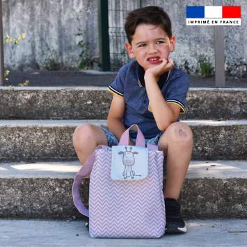 Kit sac à dos enfant motif baby rose