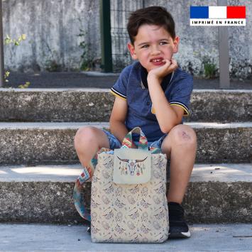 Kit sac à dos enfant motif boho