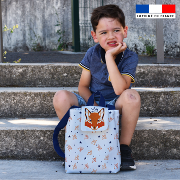 Kit sac à dos enfant motif renard