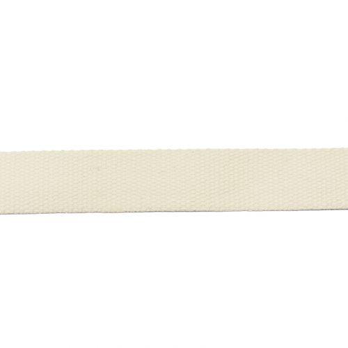 Rouleau 10m sangle coton 30mm crème