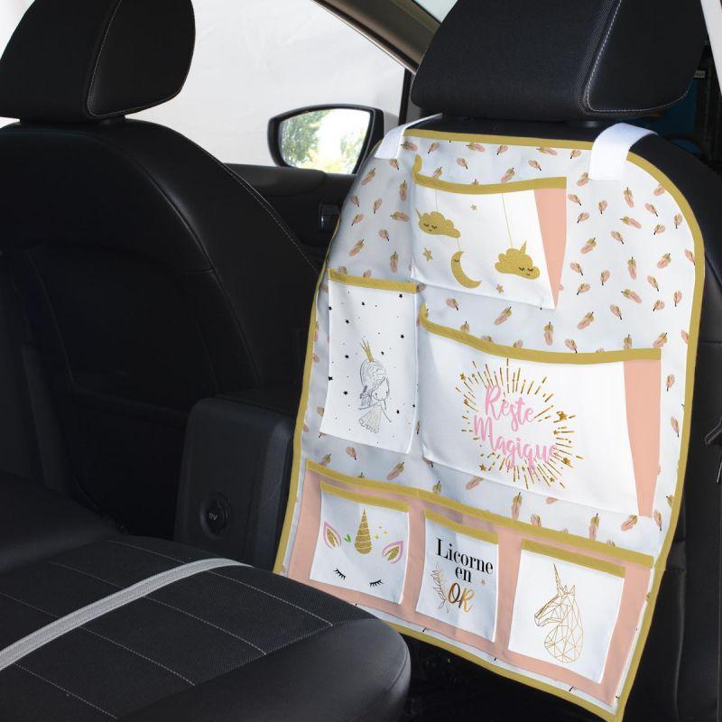 Patron pour organisateur de voiture motif licorne + Kit pochette Offert