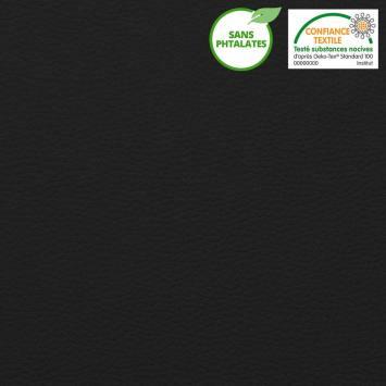 coupon - Coupon 77cm - Simili cuir uni noir