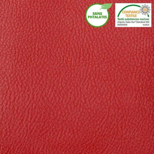 Simili cuir uni rouge 800gr