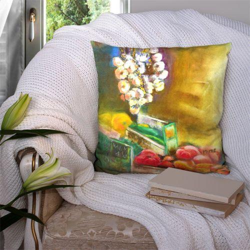 Coupon 45x45 cm motif légumes - Création Mimie