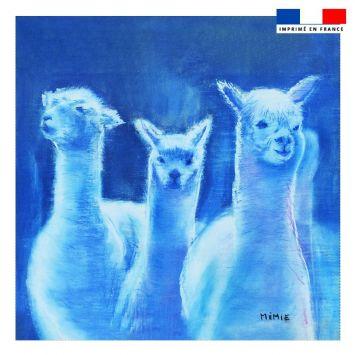 Coupon 45x45 cm motif lamas - Création Mimie