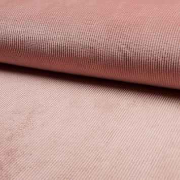 Velours côtelé à grosses côtes rose
