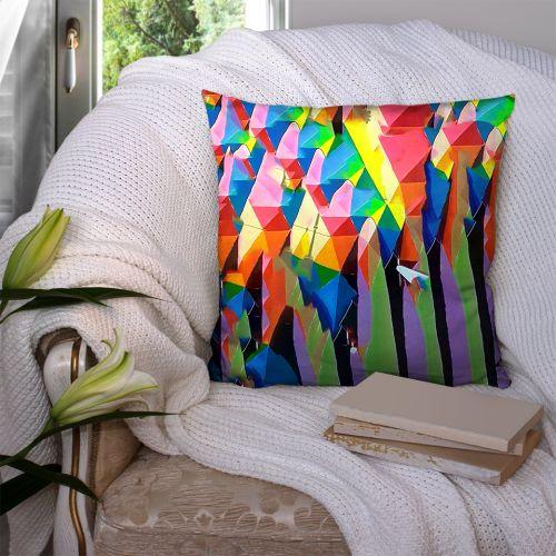 Coupon 45x45 cm motif happy lady verso - Création Khosravi