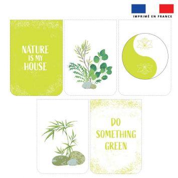 Lot de 5 essuie-mains en éponge motif green