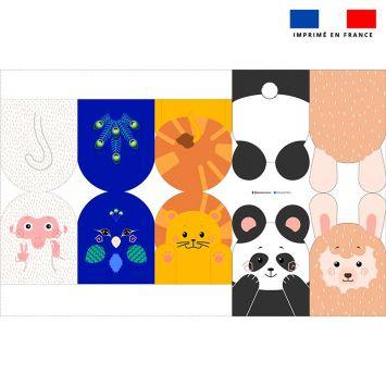 Kit mini-gants nettoyants motif animaux du zoo