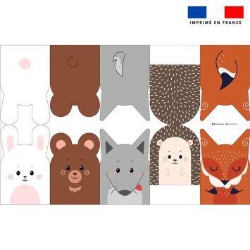 Kit mini-gants nettoyants motif animaux de la forêt