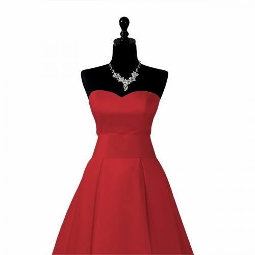 coupon - Coupon 43cm - Satin duchesse rouge