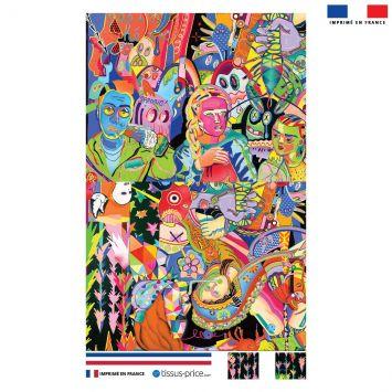 Kit pochette motif paradise - Création Khosravi