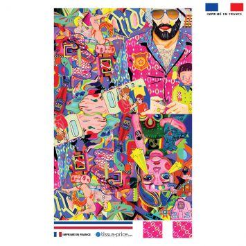 Kit pochette motif windsor - Création Khosravi
