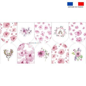 Kit mini-gants nettoyants motif fleurs printanières