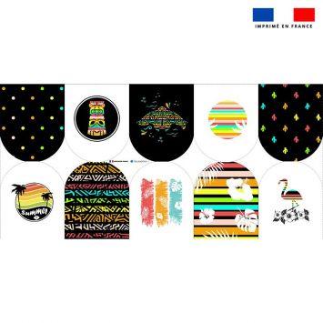 Kit mini-gants nettoyants motif Hawaï