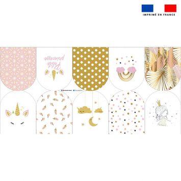 Kit mini-gants nettoyants motif licorne gold