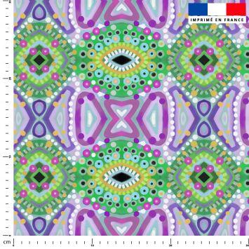 Abstrait miroir vert et violet - Création Lita Blanc