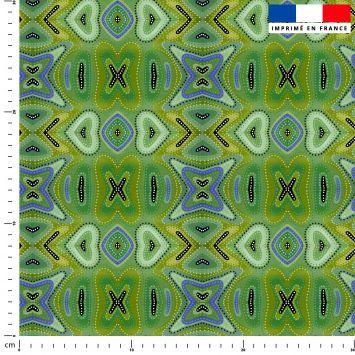 Abstrait nuances de vert - Création Lita Blanc