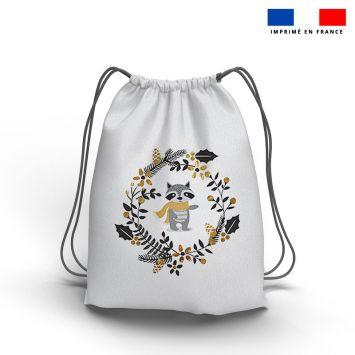 Kit sac à dos coulissant motif ambiance d'hiver