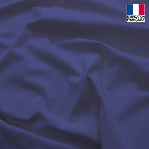 Toile coton ignifugé M1 bleu