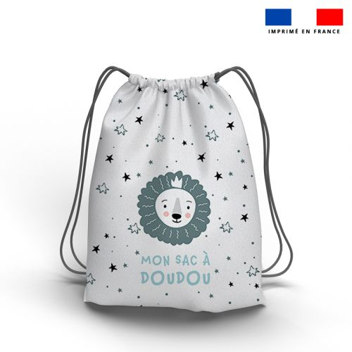 Kit sac à dos coulissant motif baby bleu