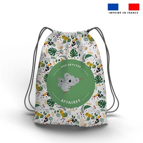 Kit sac à dos coulissant motif mes petites affaires koala