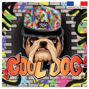 Coupon 45x45 cm motif cool dog - Création Créasan'