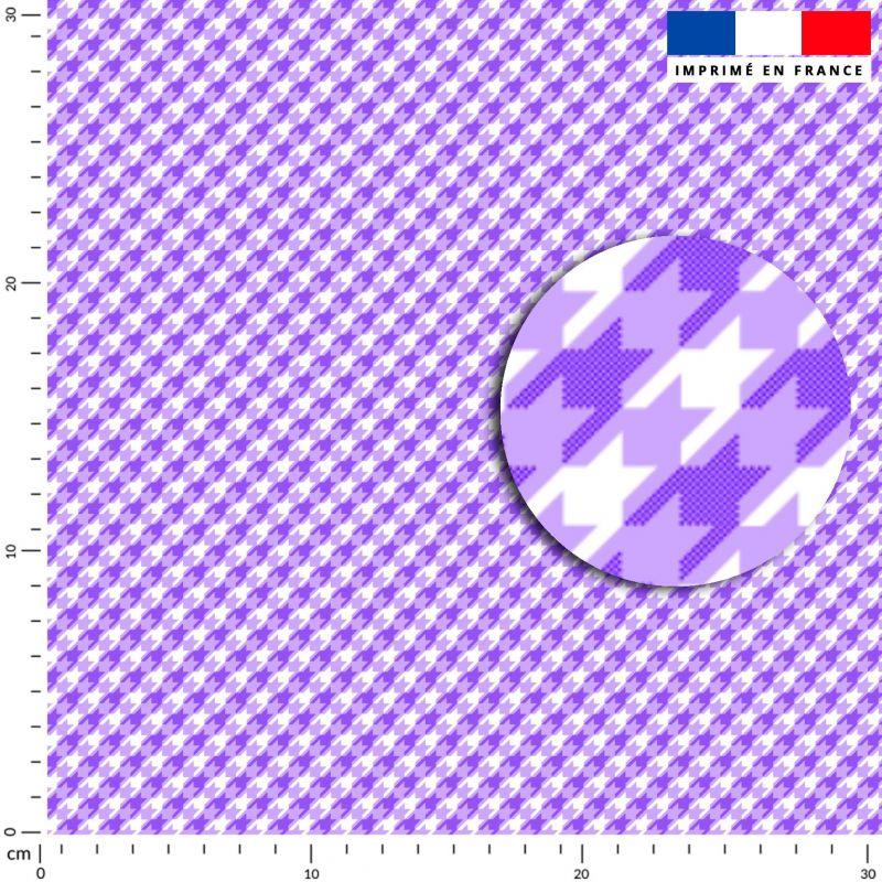 Pied de poule violet - Fond blanc