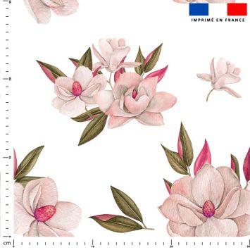 Fleur japonaise - Fond blanc