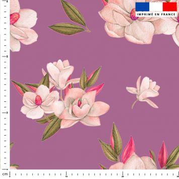 Fleur japonaise - Fond violet