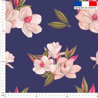 Fleur japonaise - Fond violet foncé