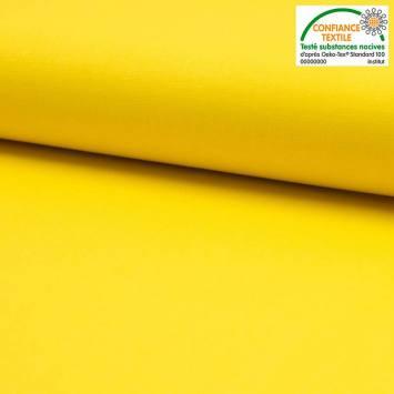 Coton uni jaune vif Oeko-tex