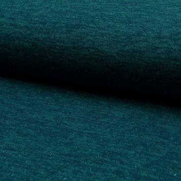 Lainage fin et ajouré avec un fil lurex bleu