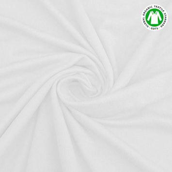 coupon - Coupon 90cm - Jersey en coton bio blanc