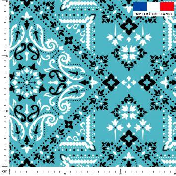 Bandana - Fond bleu