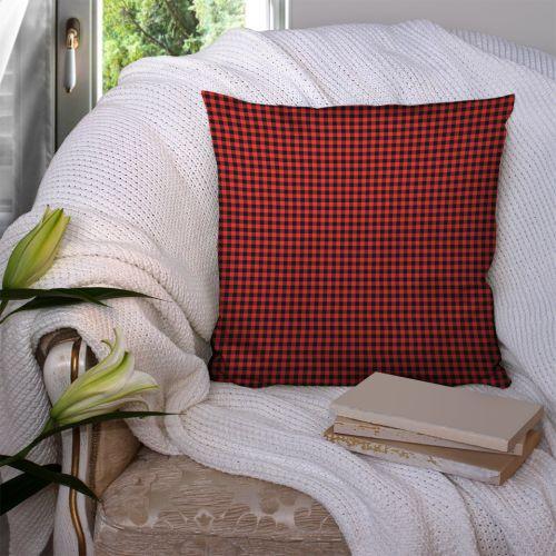 Coupon 45x45 cm motif vichy rouge et noir