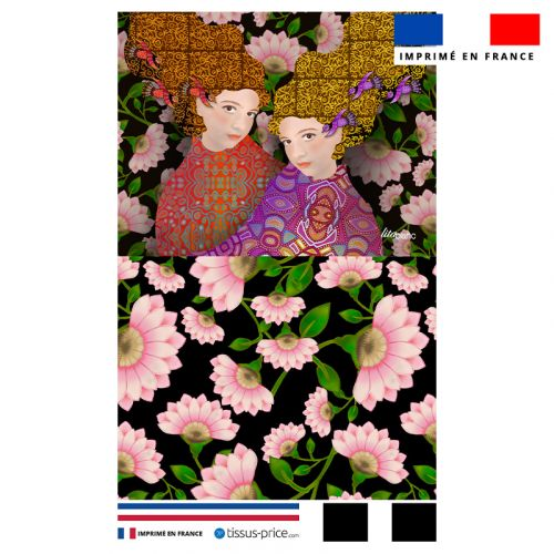 Kit pochette motif diva duo gigi - Création Lita Blanc