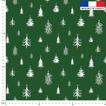 Sapin de Noel blanc - Fond vert