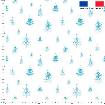 Sapin de Noel bleu - Fond blanc
