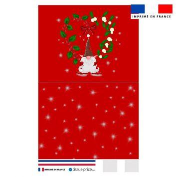 Kit pochette rouge motif lutin de Noel - Création Créasan'