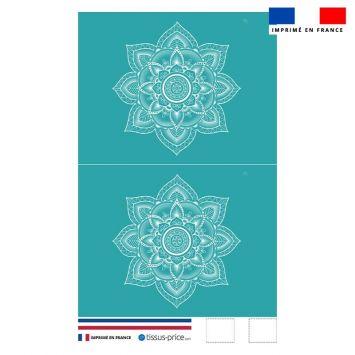 Kit pochette bleu canard motif mandala - Création Créasan'