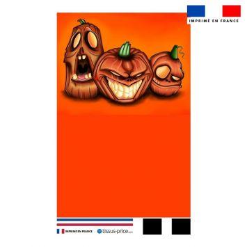 Kit pochette orange motif citrouilles - Création Créasan'