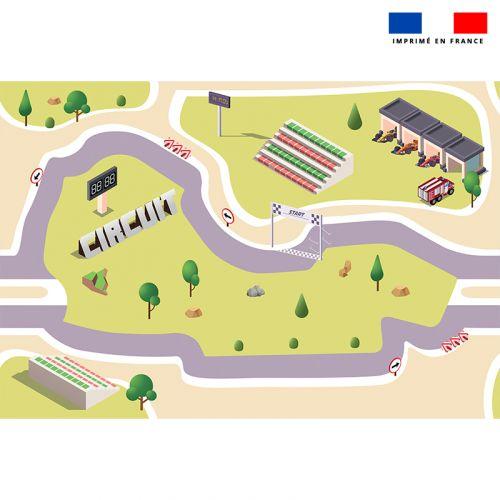 Tapis de jeu motif racing - Fond vert